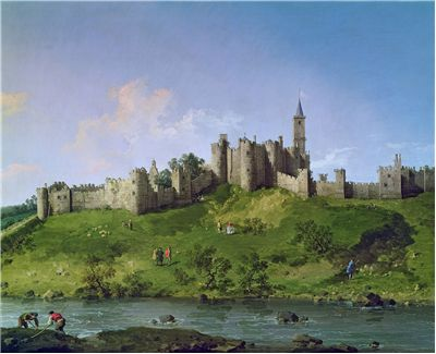 Painting of Alnwick Castle by Canaletto