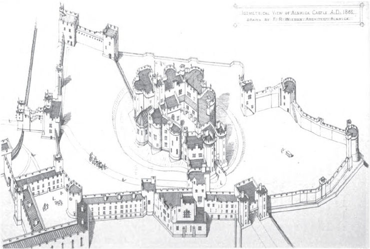 Isometric View of Alnwick Castle