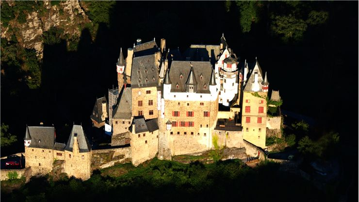 A view of of Burg Eltz