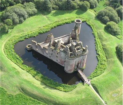 Caerlaverock Castle in Scotland