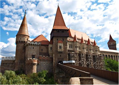 Hunyad Castle in Romania