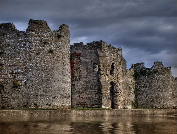 Portchester Castle in Hampshire