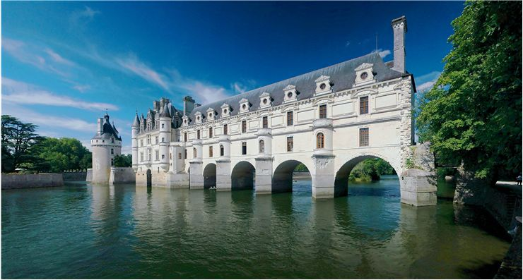 Panorama of Château de Chenonceau