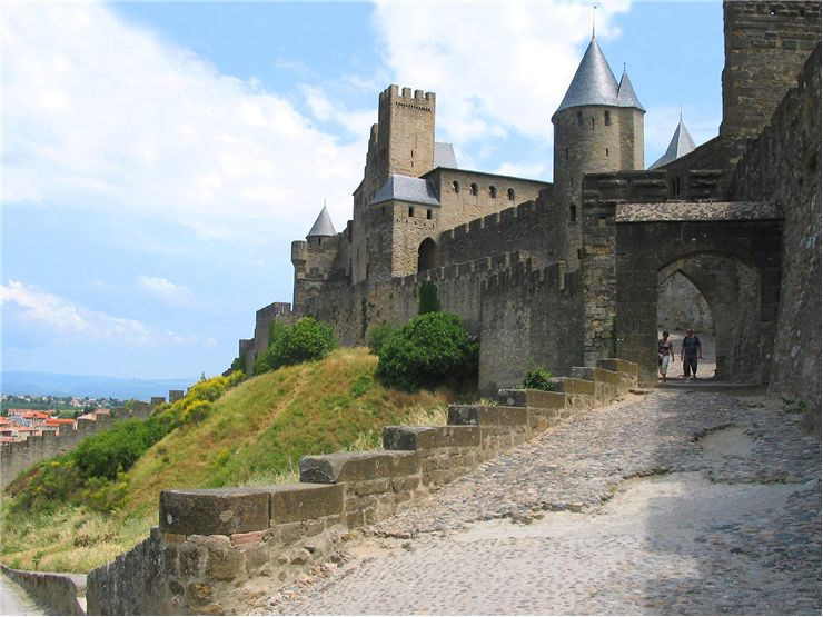 The Cité de Carcassonne - The door of the Aude