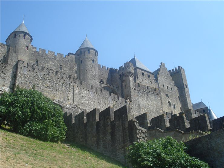 View from outside the Cité de Carcassonne