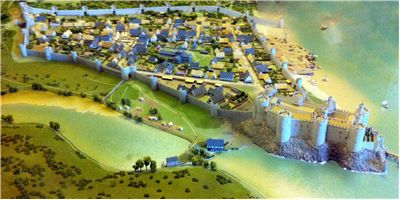 Reconstruction of Conwy Castle, 13th century