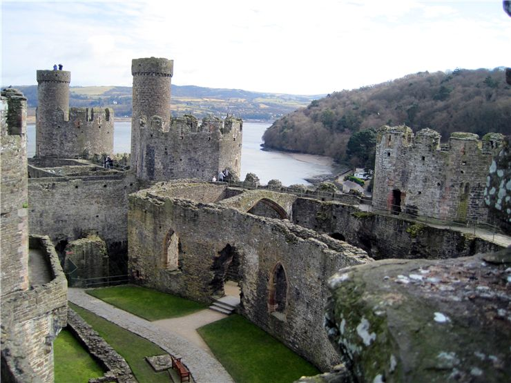 The Outer Ward of Conwy Castle
