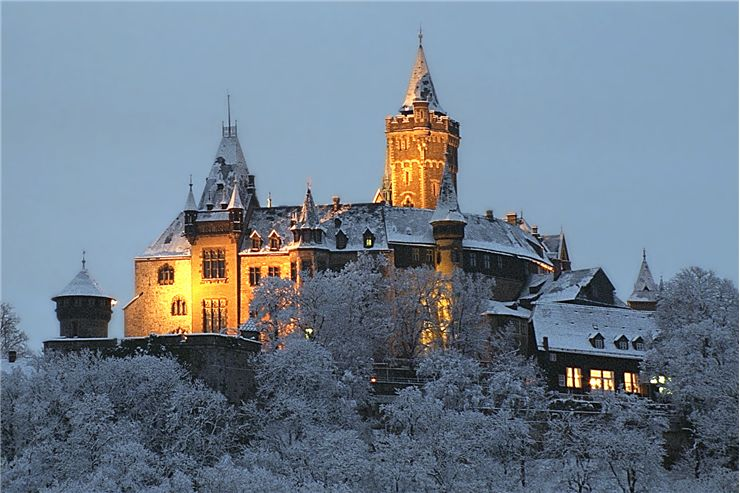 Castle of Wernigerode in Winter