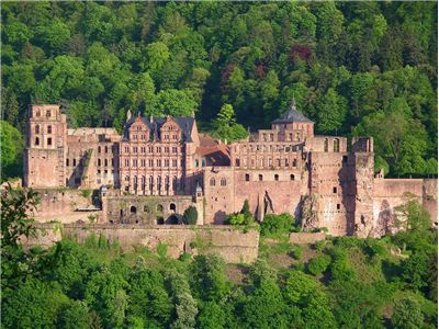 Total view of Heidelberg castle