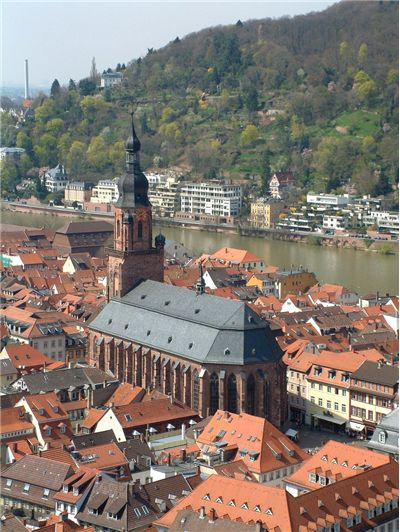 The Heiliggeistkirche of Heidelberg