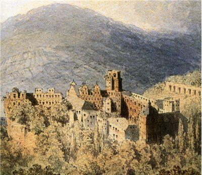 Castle of Heidelberg - A view by Theodor Verhas