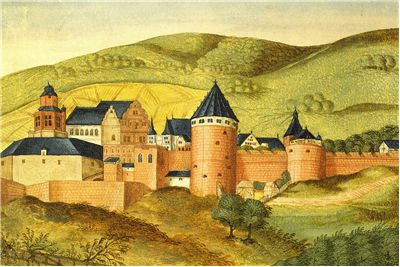 The Heidelberg castle in the Thesaurus Pictuarum