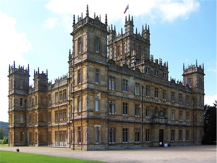 Front facade of Highclere Castle