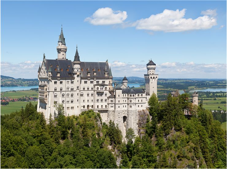 Castle Neuschwanstein - Romanesque Revival palace