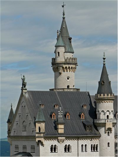 Neuschwanstein's Castle palace's roof