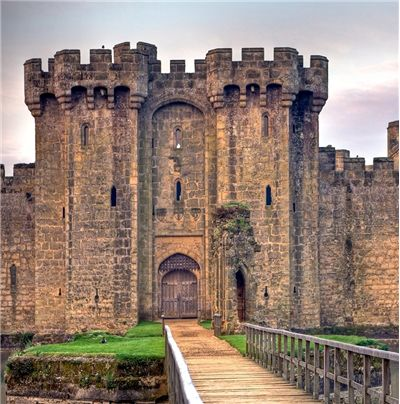 The gatehouse of Bodiam Castle