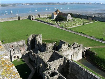 Portchester Castle, view from the tower