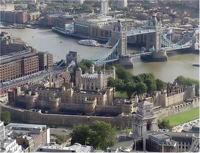 Tower of London from the SwissRe Tower