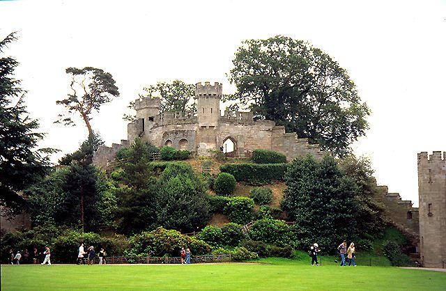 The mound at Warwick Castle