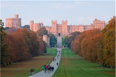 Windsor Castle, viewed from the Long Walk